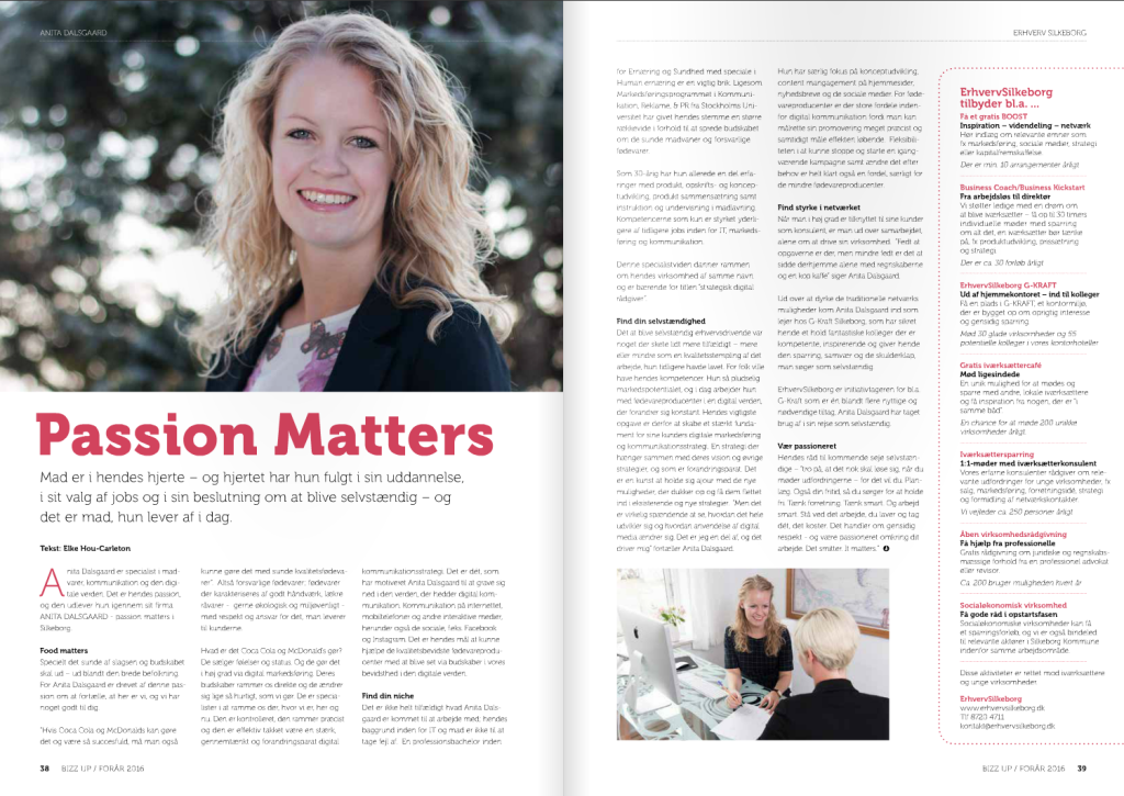 Anita Dalsgaard Digital Strategi og Fødevarekommunikation